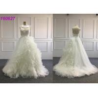 Long Trail Princess Ball Gown Wedding Dresses / Straps White Princess Wedding Dress
