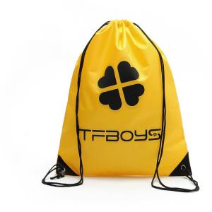 China Yellow Nylon 190T Drawstring Packaging Bags 10Kg Durability on sale