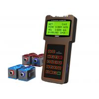 Large LCD Display Handheld Flow Meter Bidirectional With Clamp On Transducer