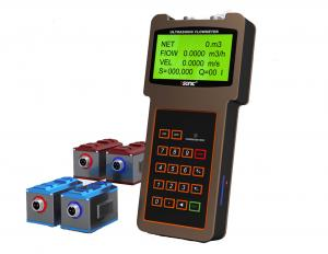 China Large LCD Display Handheld Flow Meter Bidirectional With Clamp On Transducer on sale