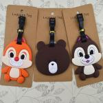 Factory manufacturer fashione design silicone luggage tags