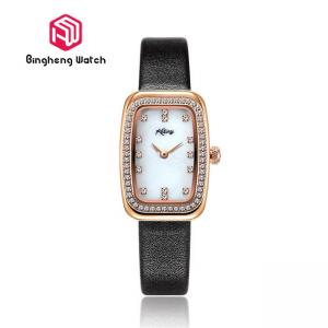 China Square Quartz Ladies Wrist Watch , Womens Gold Watches With Diamonds on sale