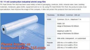 China hot sale construction plastic film,10 / 11 mil construction industrial shrink wrap film,Construction Builder's Film pack on sale