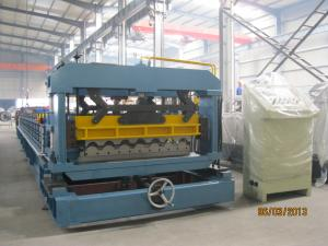 China PLC Converter Roof Tile Roll Forming Machine For Factory Hotel Roof on sale