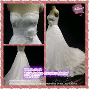 China 2014 Elegant Classic Sweetheart Wedding Dress Bridal Gown with Appliqued Lace BYB-14505 on sale