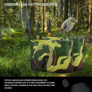 China Russia camouflage color outdoor sport speaker with remote control on sale