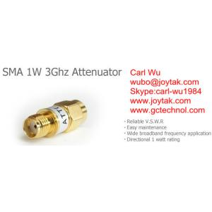 China Type atténuateur de SMA mâle de 1 watt 3Ghz SMA aux atténuateurs fixes femelles de SMA/SMA-JK1W3G on sale