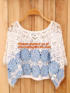 China Crocheted Lace Women Shirts For Dress Cover Up Casual Wearing Summer 2015 new Pull over on sale