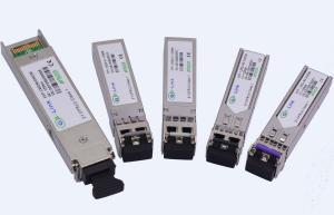 Quality 10 Gigabit Ethernet DWDM SFP Transceiver Module 10GBASE-ZR / 10GBASE-ZW for sale
