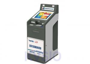 China High Security Outdoor Payment Kiosk , Bill Payment Machine With Biometric Reader on sale