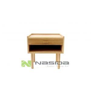 China Modern Glossy Hans Wegner Bedside Storage Cabinets for Office , Walnut / Natural Color on sale