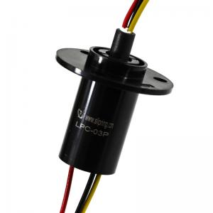 China 3 Circuits Rotating Capsule Slip Ring In Compact Design with IP54 for Torque Testing Equipment supplier