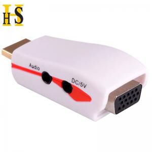 China high quality hdmi to adaptor male to female for projector etc hdmi to vga adapter with 5v power and audio on sale