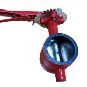 China Ductile Iron Grooved Butterfly Valve, Lever Op on sale