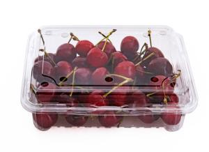 China High Clear Cherry Box Disposable Plastic Fruit containers on sale