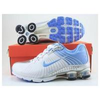 China Nike Shox R4 Women's Shoe white with blue on sale