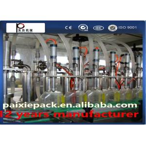 China Auto Cooking Oil Filling Machine For Glass and Plastic Bottle , HIgh Speed on sale