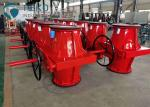 Red Valve Regulating Open Body Pinch Type Control Valve For Mining