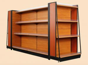 China Attractive Shop Display Equipment Supermarket Display Shelving With Light Box on sale