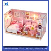 China DIY Wooden Miniatura dollhouse Doll House Furniture Handmade 3D Miniature Toys Gifts C002 on sale