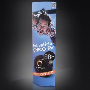 China Customized Varnishing Standee Display For Exhibitions Advertising on sale
