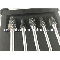 YG8 Tungsten Carbide Rotary Burrs / Tungsten Carbide Grinding Bits For Non Ferrous Metal