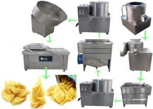 China Snack Food Factory Semi Automatic Potato Chips Production Line on sale