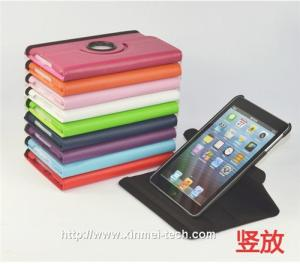 China 360 degree rotation leather ipad mini case and covers on sale