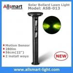 56cm/22 inch Solar Motion Sensor Bollard Lawn Lights Solar Motion Sensor Yard Lights 280lm for Garden Decor & illuminate