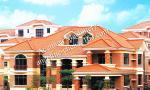 villas used high quality plastic PVC roof tiles