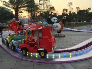 China Fiberglass Kids Amusement Ride Single Floor Climbing Track 12 Kids on sale