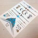 or métallique de tatouage d'instantané de tatouage d'or fait sur commande de haute qualité