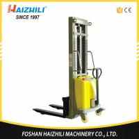 China Durable steel 1 ton 2 meter double mast semi electric stacker for sale with CE on sale