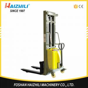 China China material handing equipment supplier semi electric forklift stacker with 1 ton capacity on sale