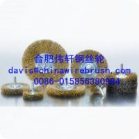 Steel Crimped Wire Shaft Wheel Brushes