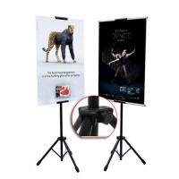 China Double Sided Advertising Poster Board Display Stand Wedding Easel Standing Sign Board on sale