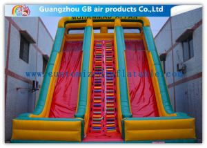 China Childrens Industrial Inflatable Water Slides / Inflatable Double Water Slide Fast Delivery on sale