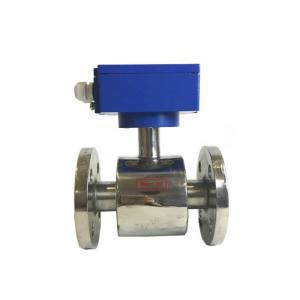 China Magnetic water flow meter sea water flow sensor on sale