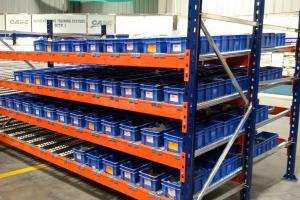 China Heavy Duty Carton Flow Rack / Pallet Live Racking For Warehouse Storage on sale