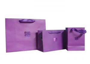 China Silk Printing / UV Coating Paper Shopping Bags Sturdy Gift Bags 39mm Diameter on sale