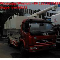 China 2018s cheapest price dongfeng 4*2 10m3 LHD  animal feed fodder transporting vehicle for sale, bulk feed delivery truck on sale
