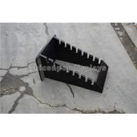 China Stone Showroom Wood Tile Display Racks Custom Black 8 Pieces Flooring Tile Rack on sale