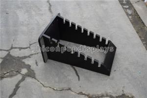 China Stone Showroom Wood Tile Display Racks Custom Black 8 Pieces Flooring Tile Rack on sale