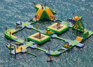 China Huge Wibit Sport Inflatable Water Parks , Aqua Park Games on sale