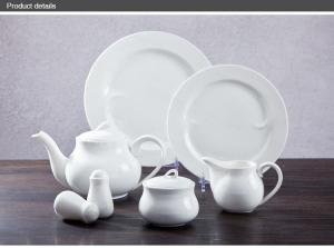 China Italian Ceramic Tableware Plate 7 9 11 White Porcelain Dinnerware Set on sale