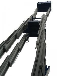 China 16m Multi Mast Aluminum Aerial Work Platform with 150KG Loading Capacity on sale