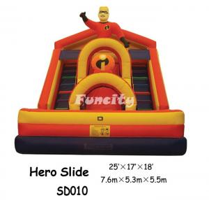 China Hero Slide Inflatable Slide For Sale In Water-proof PVC Tarpaulin on sale