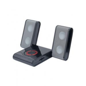 China DC 9V 550mA Portable Mini Digital Speakers With Built-in Rechargeable Battery on sale