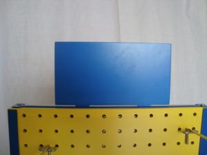 Quality Rotating Tabletop Pegboard Display / Double Side Countertop Pegboard Display for sale