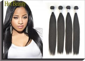 China Peruvian Virgin Human Hair Extensions Soft Touch Tangle Free No Dye Ends For Black on sale